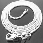BEST SELLER! SNAKE Chain SOLID .925 STERLING SILVER Made in Italy FREE SHIPPING!
