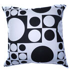 AL01a Black White Square Circle Dot Cotton Canvas Cushion Cover/Pillow Case Size