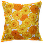 AF45a Yellow Sun Flower Cotton Canvas Cushion Cover/Pillow Case *Custom Size*