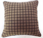 (UL153a) Ash Brown Checker Velvet Style Cushion Cover/Pillow Case *Custom Size*