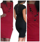 New Ladies Office Dress Work Pencil Bodycon Party Womens Size 8 10 12 14 16 18