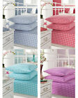 Luxury 180 Thread Count Gingham Fitted Sheets Single, Double, King, Pillowcases