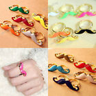 Fashion Brandnew Hot Vintage Handlebar Moustache Double Finger Adjustable Ring