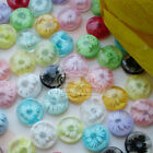 Assorted Mum Flower 13mm Plastic Buttons Sewing Scrapbooking Cardmaking JFB