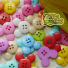Assorted Mickey 20mm Plastic Buttons Sewing Scrapbooking Cardmaking Craft MQB