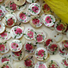 Chinese Rose 11mm Mother Of Shell Buttons Sewing Scrapbooking Beads SCP608