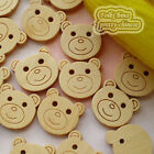 Bear Face 20mm Wood Buttons Sewing Scrapbooking Craft NCB034
