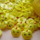 Yellow Fruit Face 15mm Plastic Buttons Sewing Scrapbooking Collectable AFB