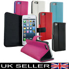 NEW SOFT LEATHER FLIP CASE / POUCH / COVER / SKIN  FITS APPLE IPHONE 5 5G