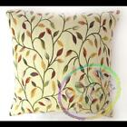 Nj03a Linen Blend Red Green Yellow Leaf Cushion Cover/Pillow Case*Custom Size*