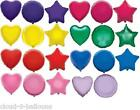 "1 x 18"" Foil Balloon for Wedding or Party - Heart, Star or Round - Many Colours"