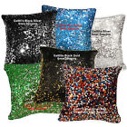 Ga 6mm Sequins ((Pick 1 color of 6) Velvet Cushion Cover/Pillow Case Custom Size
