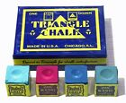 A BOX OF 12 x  PIECES OF TRIANGLE CHALK AVAILABLE IN VARIOUS COLOURS