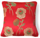 Bf018a Lt.Green Olive Lt.Gold Red Rayon Brocade Cushion/Pillow Case Custom Size
