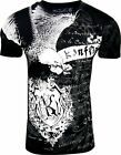 Konflic NWT Men's Eagle Graphic Designer MMA Muscle T-shirt, Black