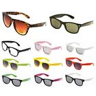 Retro 80's Wayfarer Sunglasses UV400 Men Women Black Tortoise White Pastel Neon