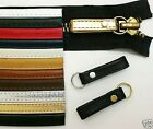 Two Leather Bag/Jacket/Boots/Luggage Zipper Pull Extender Loops W/Split Rings