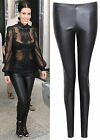 Womens Ladies Faux PU Leather Wet Look Leggings Party Tight Pants Size UK 8