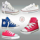 New Infant Toddlers Hi lo Chuck Taylor All Star Converse Lace Up Trainers Shoes