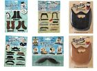 Fake Moustache Stick On/Self Adhesive False Mustache Retro Novetly Joke Pack