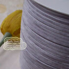 "3mm 1/8"" Gray Velvet Ribbons Craft Sewing Trimming Scrapbooking #182"