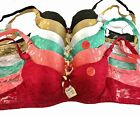 6 SEXY BRAS NEW #99955 Lace Full Lace Cup Lot 32 34 36 38 40 42 44 B C D Cup