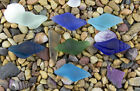 4 x Beach Sea Glass Conch Shell Pendant Beads 38mm x 18mm Choose Color!