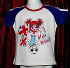 NEW Girls Miss World Top Sizes 3 yrs to 10 yrs Available FREE P&P