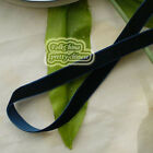 Dark Navy Velvet Ribbons Trim Sewing Scrapbook 6mm,10mm,12mm,15mm,18mm,24mm,38mm