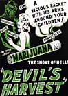 AZ16 Vintage Devils Harvest Marijuana Anti Drugs Poster Re-Print A2/A3