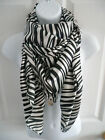 US SHIP(various color)HOT new womens ZEBRA animal print Square Neck Scarf Wrap