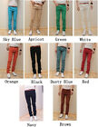 Mens Slim Fit Casual Pants Skinny Stretch Pencil Jeans Trousers h993 W28-W34