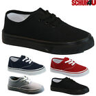 BOYS GIRLS ESPADRILLES CANVAS PLIMSOLLS LACE UP PUMPS PLIMSOLES TRAINERS SHOES