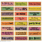 DOVECRAFT WOODEN RUBBER STAMPS LOTS OF DESIGNS TO CHOOSE FROM WORDS PHRASES NEW