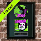 GREEN DAY Uno Album FRAMED AUTOGRAPH CD Reproduction Signed Print A4 Size (32)