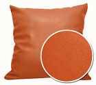 EP317 Orange-Brown Faux Leather Skin PU Cushion Cover/Pillow Case *Custom Size*