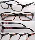 (R326H) Plastic Frame Reading Glasses with H1 Hard Case. Spring Loaded Hinges