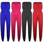 Womens Plain Ladies All In One Piece Onesie Boobtube Playsuit Jumpsuit Dress Top