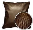Pi705a Brown 3D Laser Print Pattern PVC Cushion Cover /Pillow Case*Custom Size