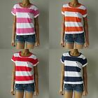 "NWT ABERCROMBIE & FITCH ANF WOMENS ""Eden"" Easy Cropped Fit Striped T-Shirt Tee"