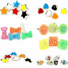18pairs  Mixed Enamel Acryli Heart Star Skull Bowknot Round Square Stud Earrings