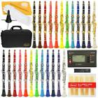 24 COLORS~B Flat Bb Clarinet Lazarro~FREE STAND or TUNER+12 REEDS,CASE,CARE KIT