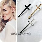 3 Pairs New Fashion Women Vintage Style Long Cross Ear Stud Earrings
