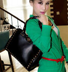 New Fashion faux leather cortical rivet shoulder bag Messenger Cross handbag