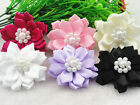 12/60pc polyester pearl flowers with the Appliques Craft DIY Wedding Pick color
