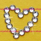 Crystal Clear Iron On Flatback Hotfix Rhinestones Glass craft Bling Diam​ante
