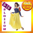 J74 Ladies Princess Snow White Fairy Tale Long Fancy Dress Halloween Costume