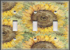Metal Light Switch Plate Cover - Beautiful Sunflowers - Sunflower Home Decor