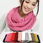 Lady Girls Corn Knited Winter Warmer Neck Circle Cowl Wool Scarf Shawl Wrap Loop