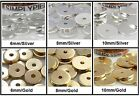 Flat Disc Metal Spacer Beads 50 Choose Size and Color